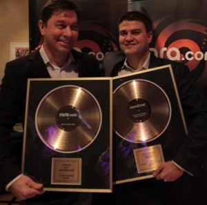 Nick and Jeff pose with their gold discs